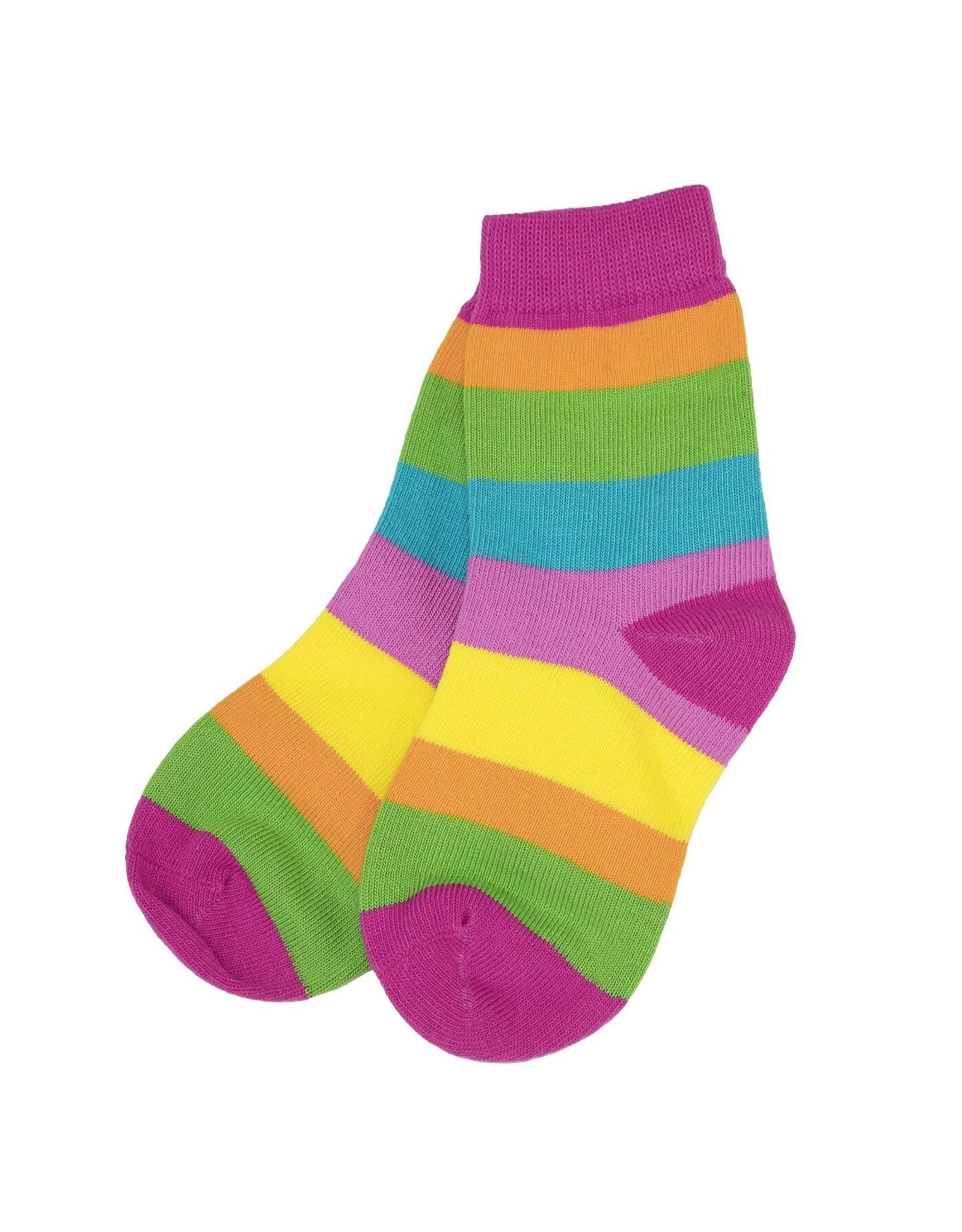 Villervalla Verschillende felle kleuren gestreepte sokken (3 kleuren) van Villervalla