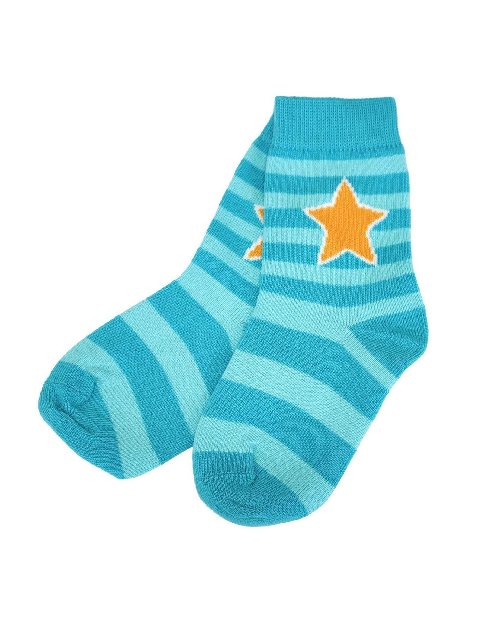 Villervalla Grijze, blauwe, paarse OF groene gestreepte sokken van Villervalla