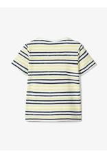 Name It Blauwe of koraal fel gestreepte t-shirt van Name It
