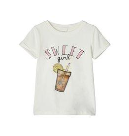 Name It Witte t-shirt met (veranderend) zomerdrankje