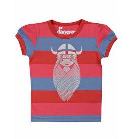 Danefae Gestreepte t-shirt met Freja Viking