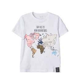 Name It T-shirt met wereldkaart