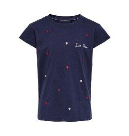 KIDS ONLY T-shirt met hartjes - LAATSTE MAAT 158/164