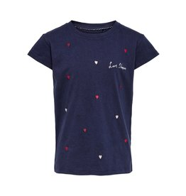 KIDS ONLY T-shirt met hartjes