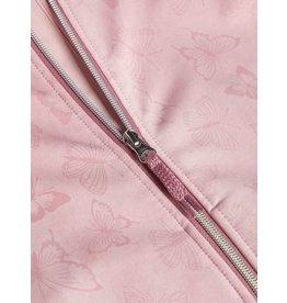 Name It Roze Magische softshell -> bij regen vlinders
