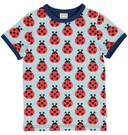 Maxomorra T-shirt met lieveheersbeestjes - LAATSTE MAAT 86/92