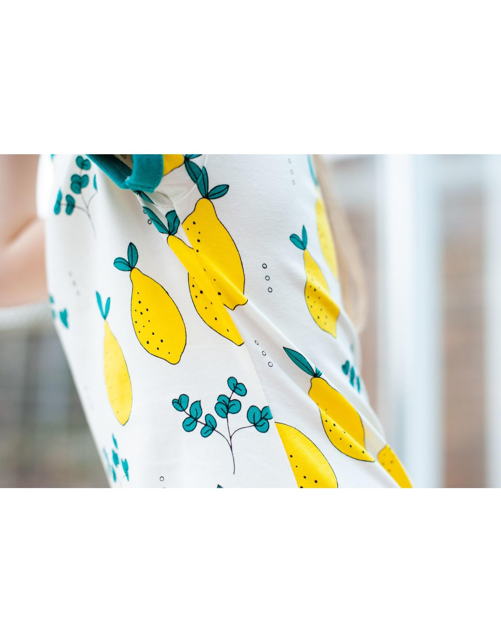 Meyadey Wit Meyadey kleedje met citroenen print
