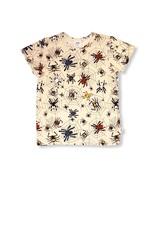 JNY Kids Witte t-shirt met spinnen
