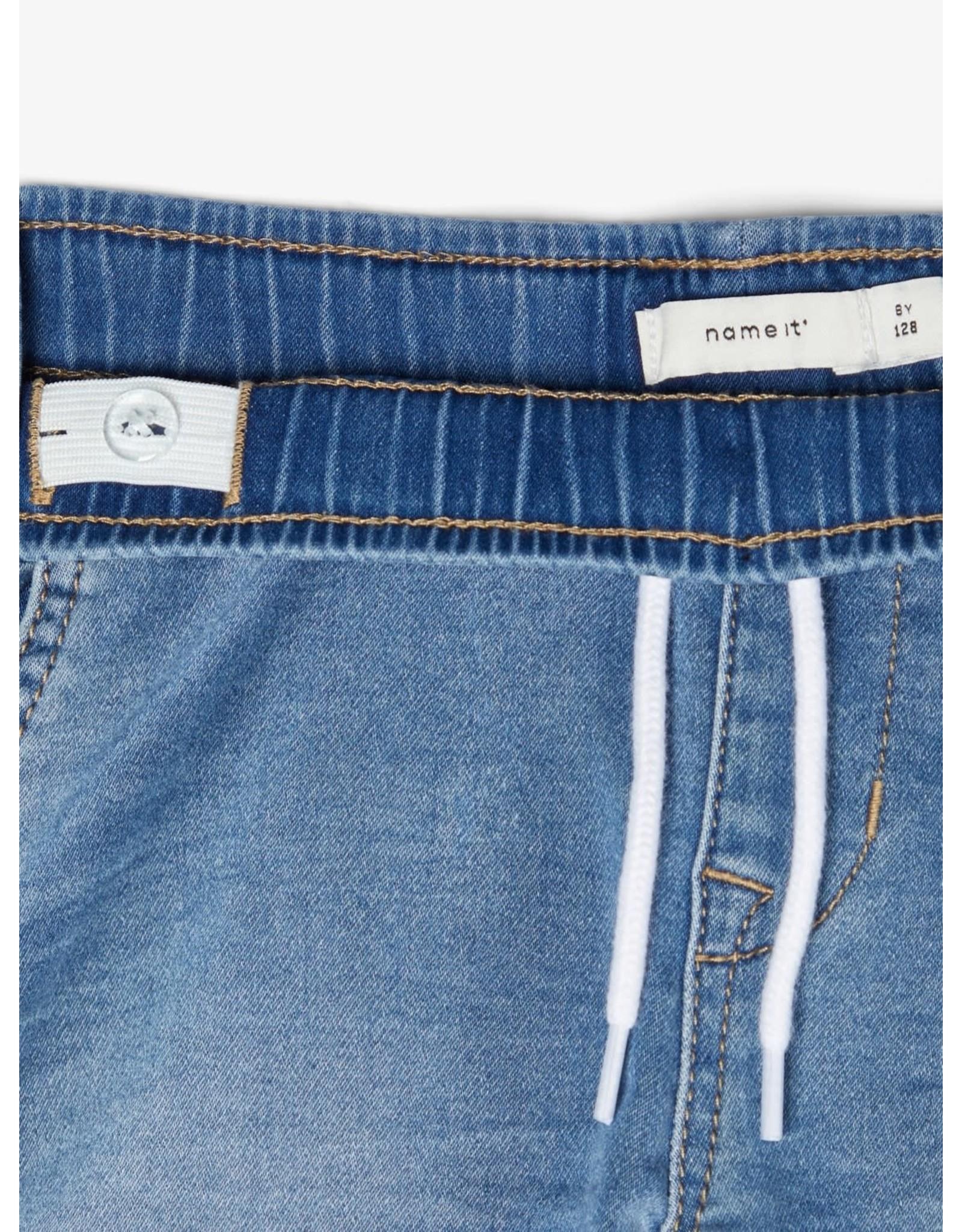 Name It Losse zachte jeansshort Medium Blue van Name It