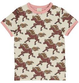 Maxomorra T-shirt met paardenprint