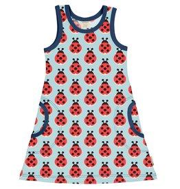 Maxomorra Mouwloos kleedje met lieveheersbeetjes - LAATSTE MAAT 122/128