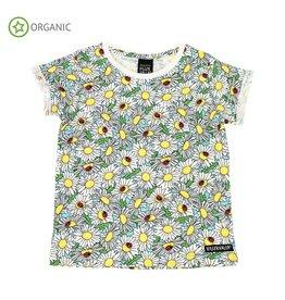 Villervalla T-shirt met madeliefjes print