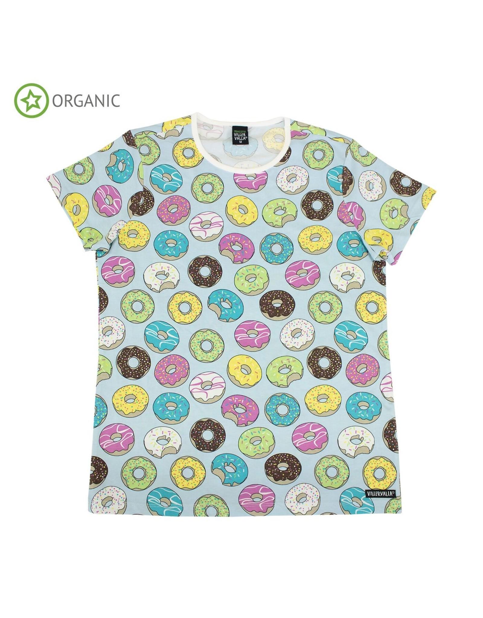 Villervalla VOLWASSENEN t-shirt met donuts (2 kleuren)