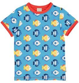 Maxomorra T-shirt met aquarium visjes
