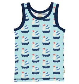 Maxomorra Mouwloze t-shirt met zeilboten