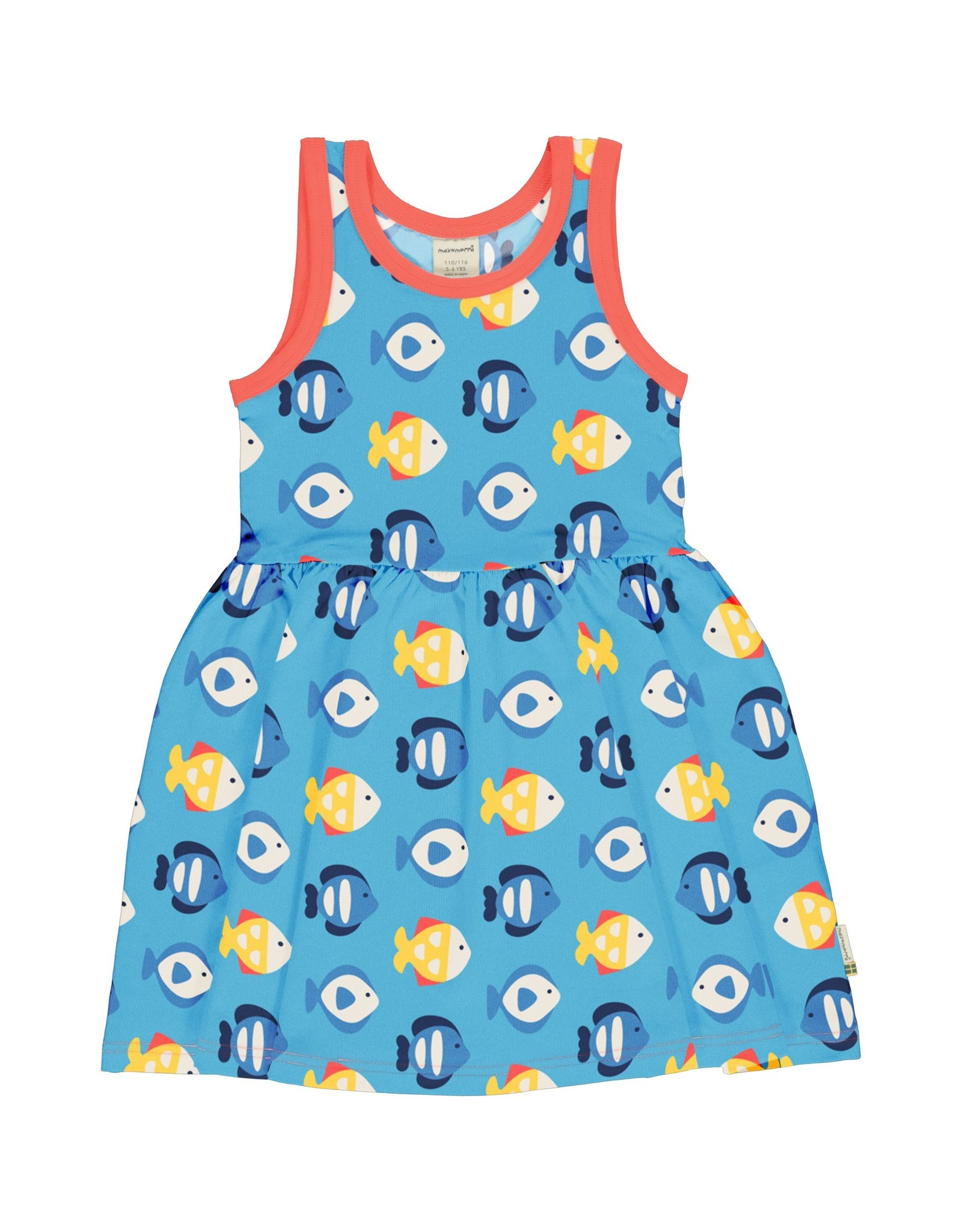 Maxomorra Zwier kleedje met vissen print