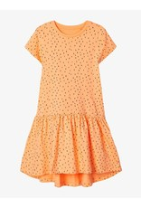 Name It Oranje zomerkleedje met zwarte pitten