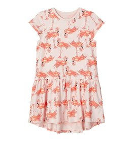 Name It Roze zomerkleedje met flamingo's