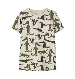 Name It T-shirt met krokodillenprint