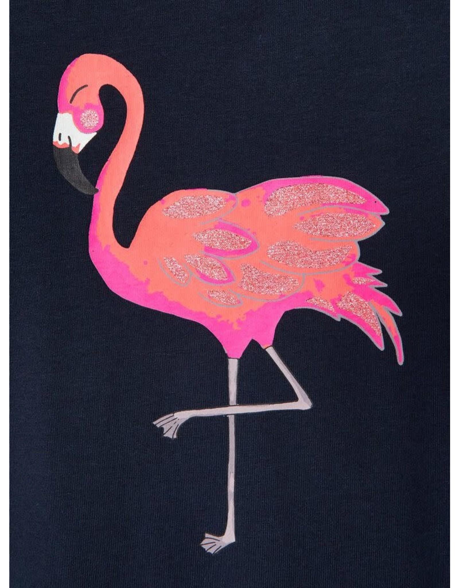 Name It Lange donkerblauwe zomerjurk met flamingo