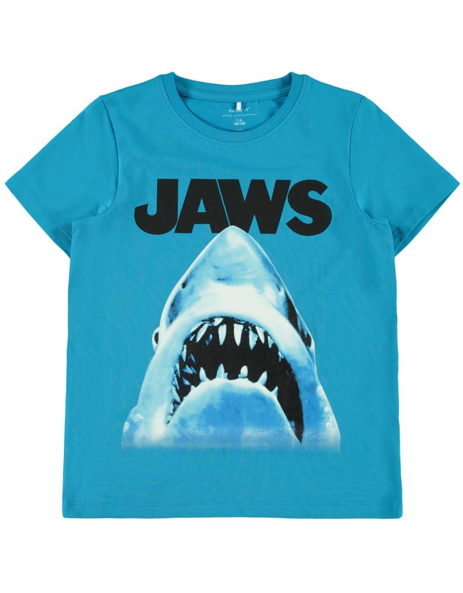 "Name It Fel blauwe retro ""Jaws"" t-shirt"