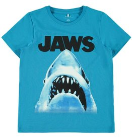 "Name It Fel blauwe retro ""Jaws"" t-shirt"