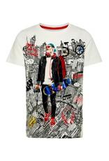 Name It Witte t-shirt met grafische skater print