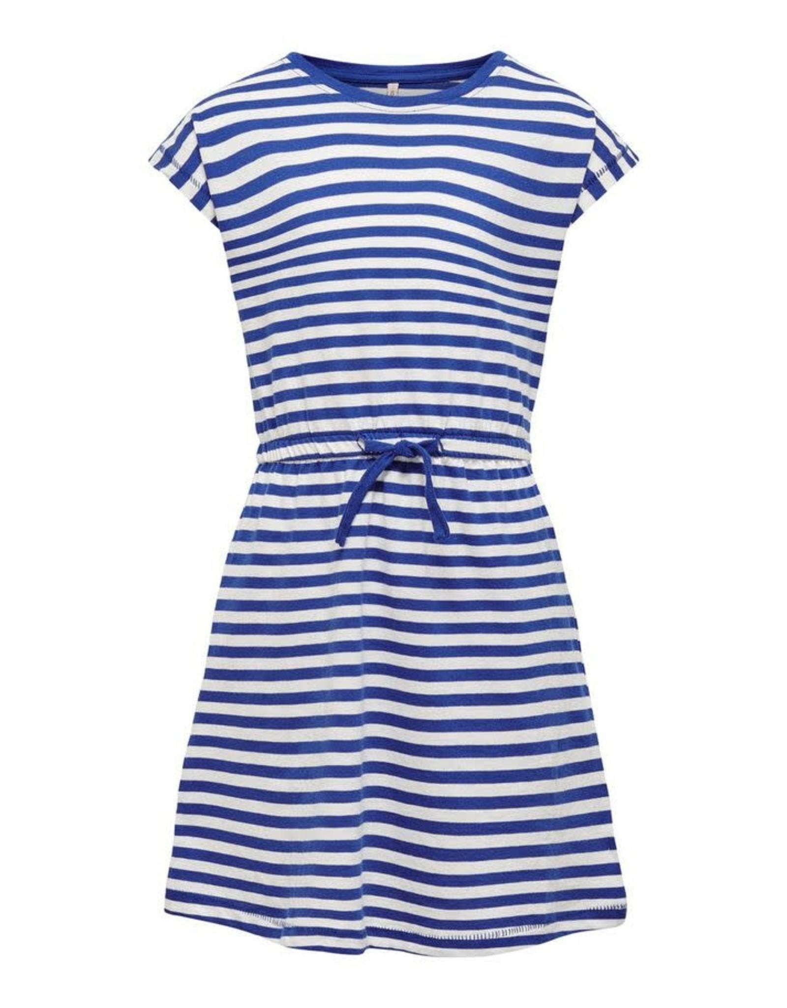 KIDS ONLY Blauw gestreept zacht kleedje