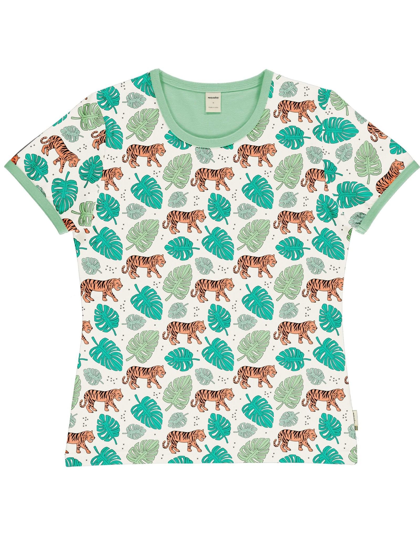 Meyadey VOLWASSENEN t-shirt met tijger patroon - LAATSTE MAAT Medium