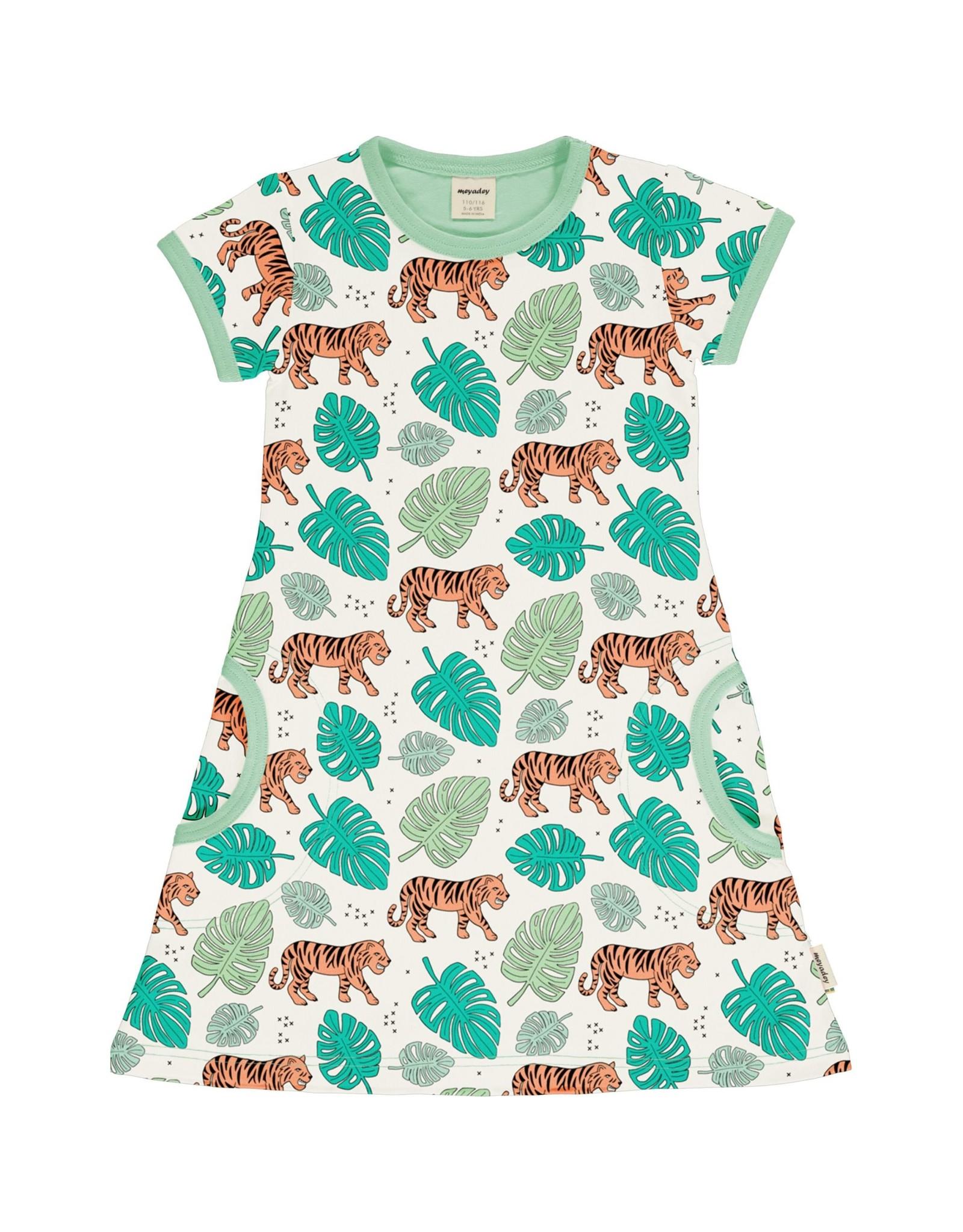 Meyadey Kleedje met tijger print