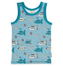 Meyadey Mouwloze t-shirt met duikboot print