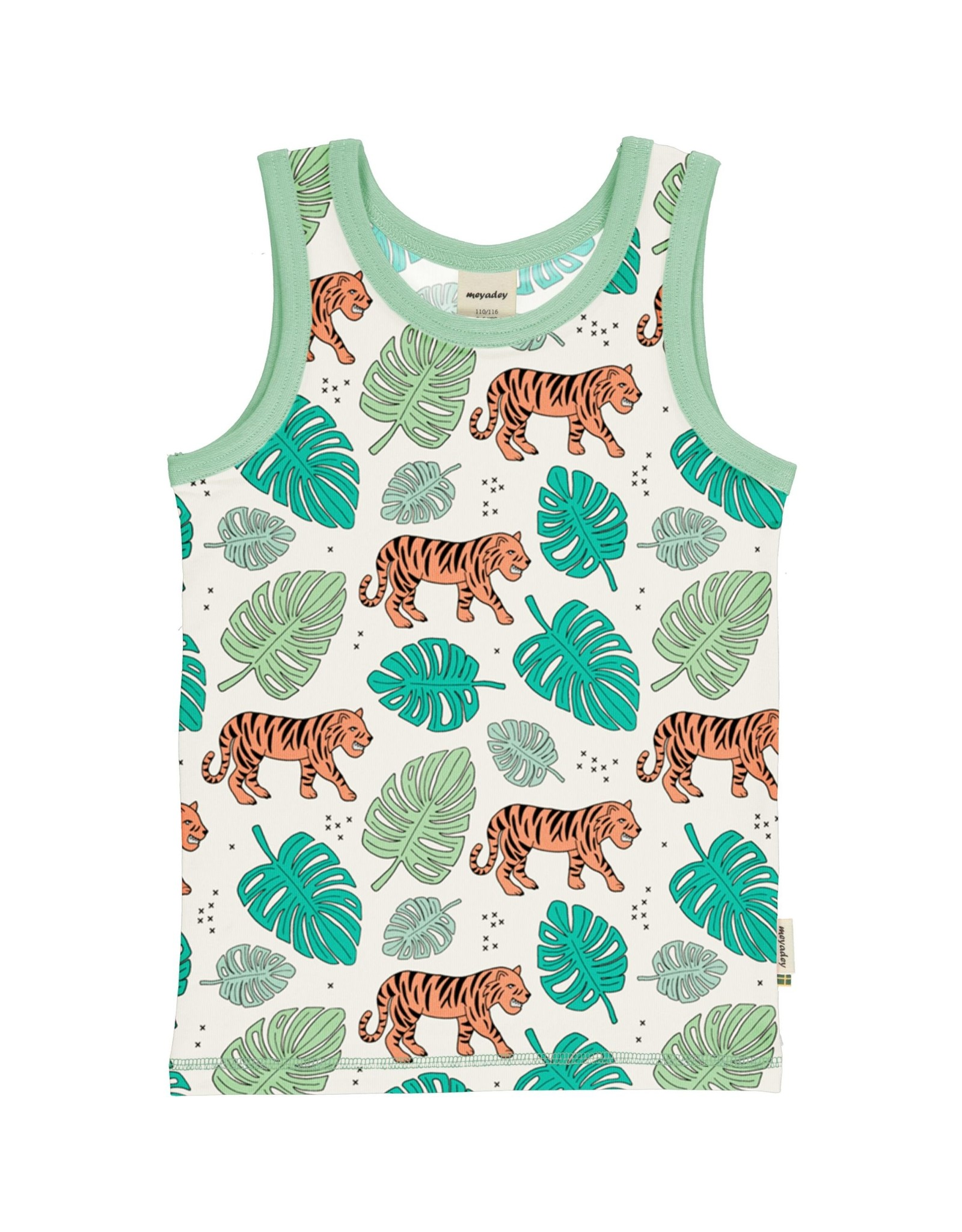 Meyadey Mouwloze t-shirt met tijgerprint