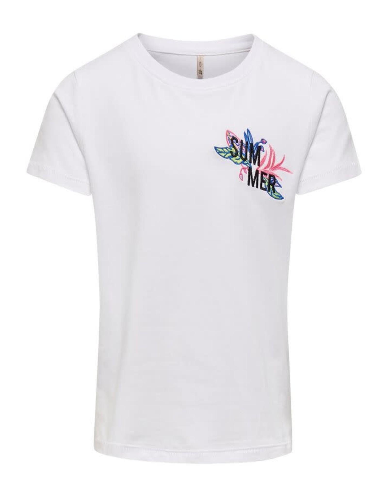 KIDS ONLY Witte t-shirt met leuke print