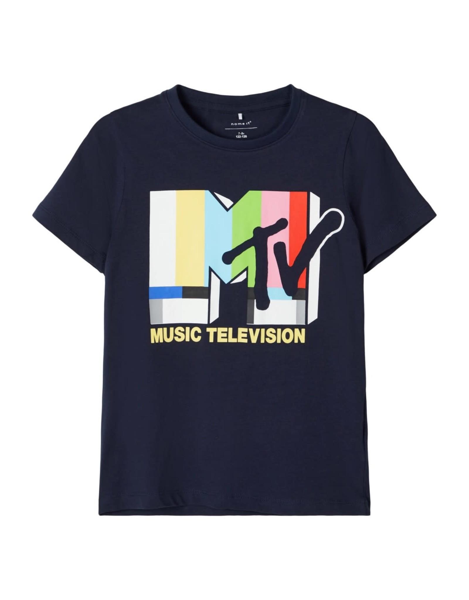 Name It Donkerblauwe MTV t-shirt