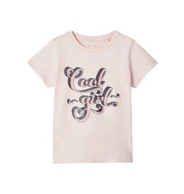 """Name It Roze t-shirt met """"Cool girl"""" opschrift - LAATSTE MAAT 116"""