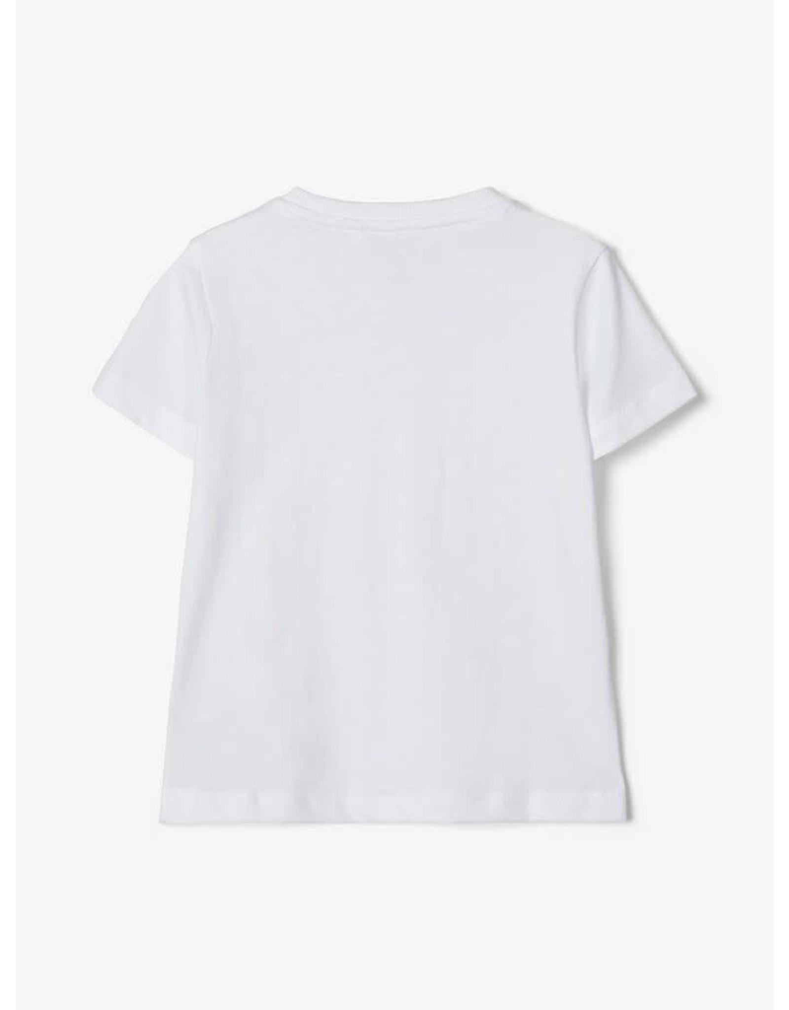 Name It Witte basis t-shirt met borstzakje