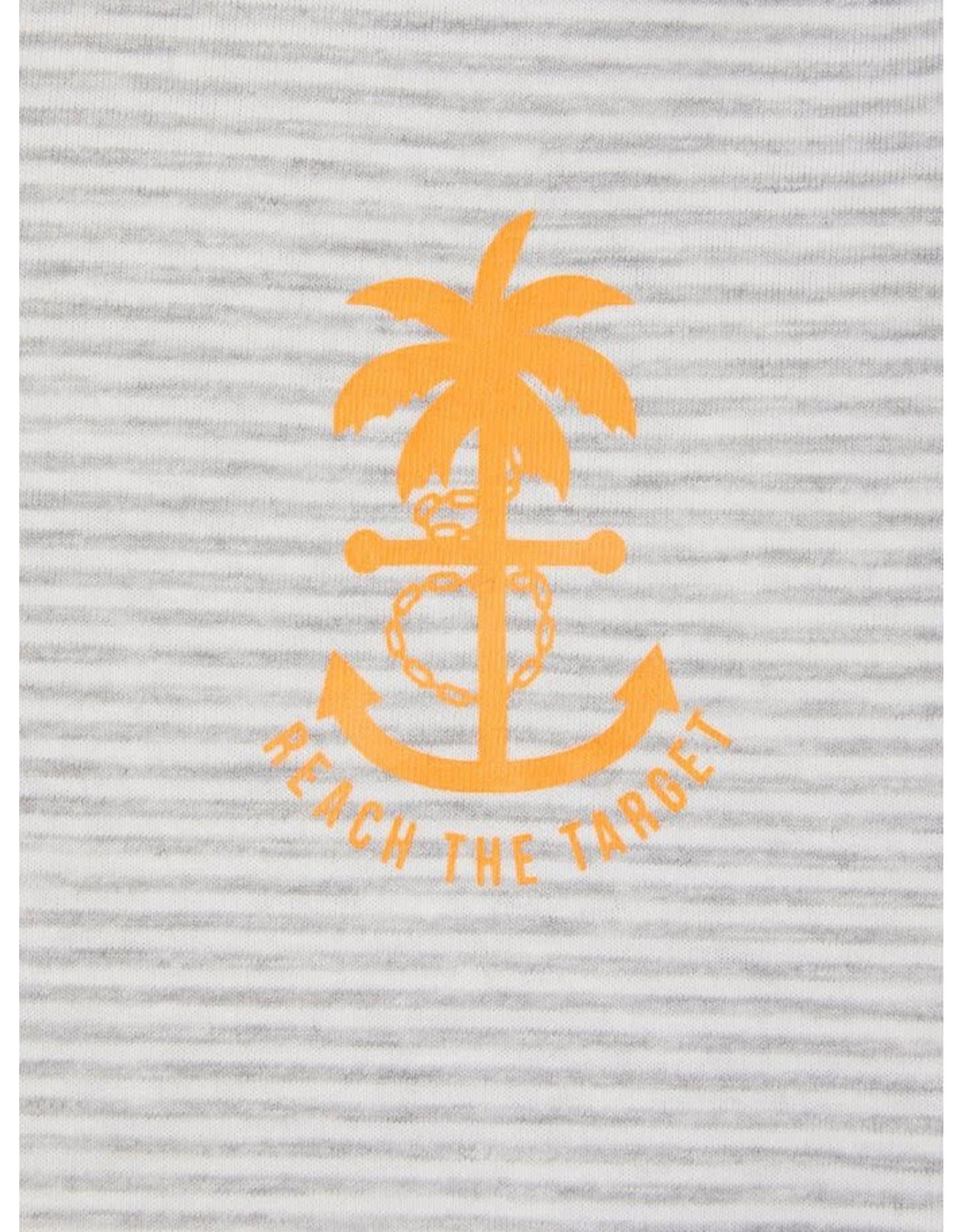 Name It Zachte t-shirt met grijze streepjes
