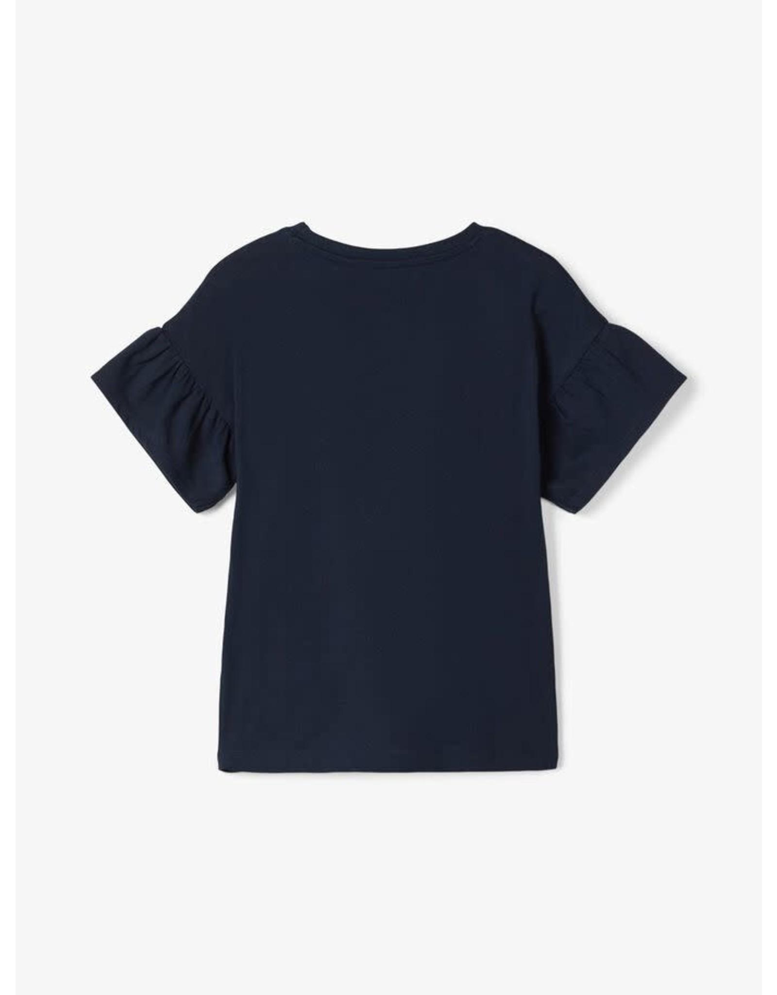 Name It T-shirt met goudkleurige kersenprint