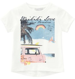 "Name It T-shirt met ""beach"" bedrukking"