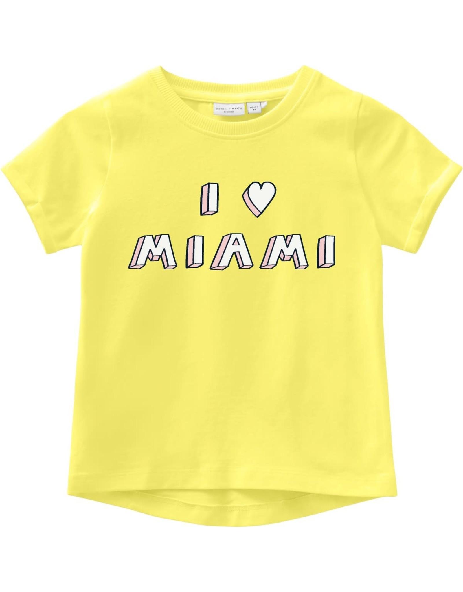 "Name It T-shirt met ""I love Miami"" print"