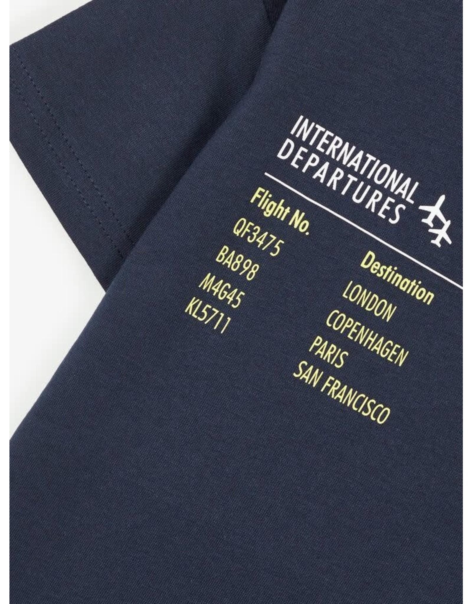 """Name It T-shirt met """"flight departures"""" print - LAATSTE MAAT 122/128"""