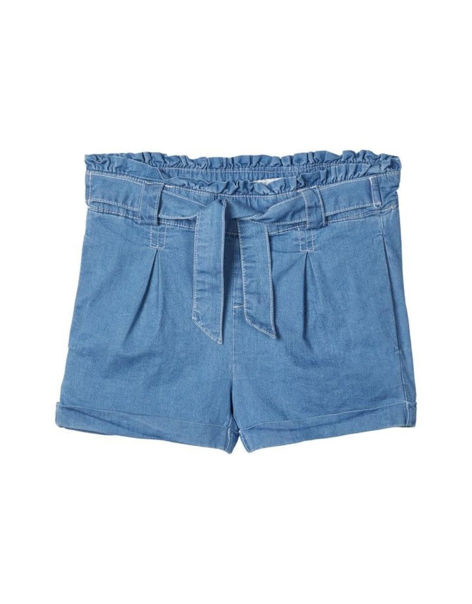 Name It Zachte jeans short met knoop riem