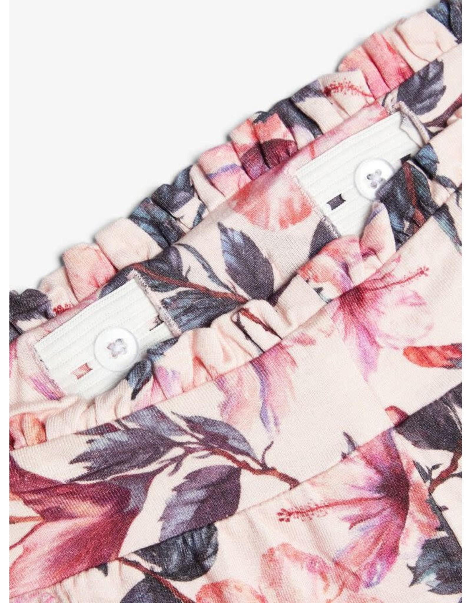 Name It Zachte brede broek met bloemen