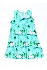 JNY Kids Mouwloos zomerkleedje met zwanen