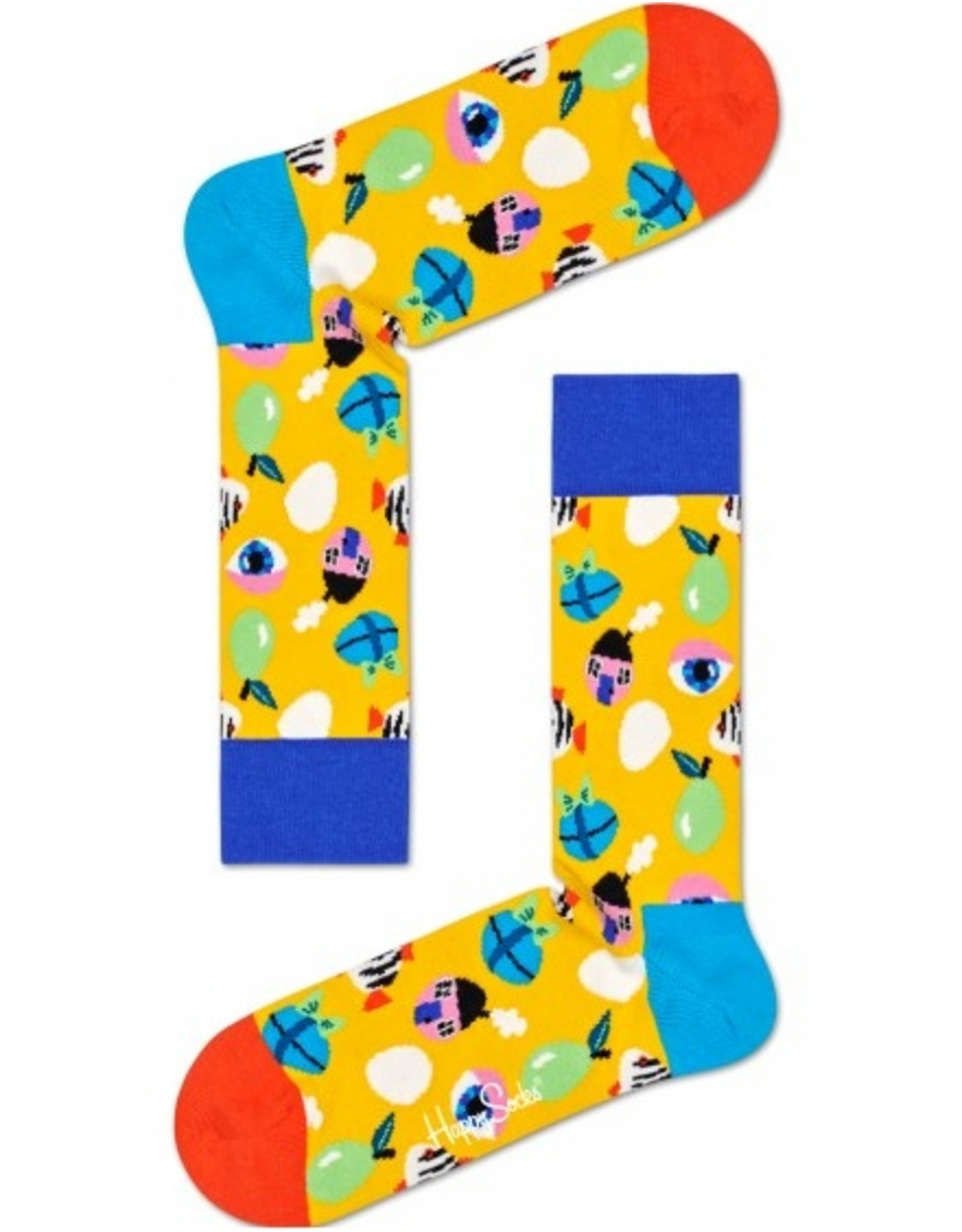 Happy Socks Sokken met gekke eitjes