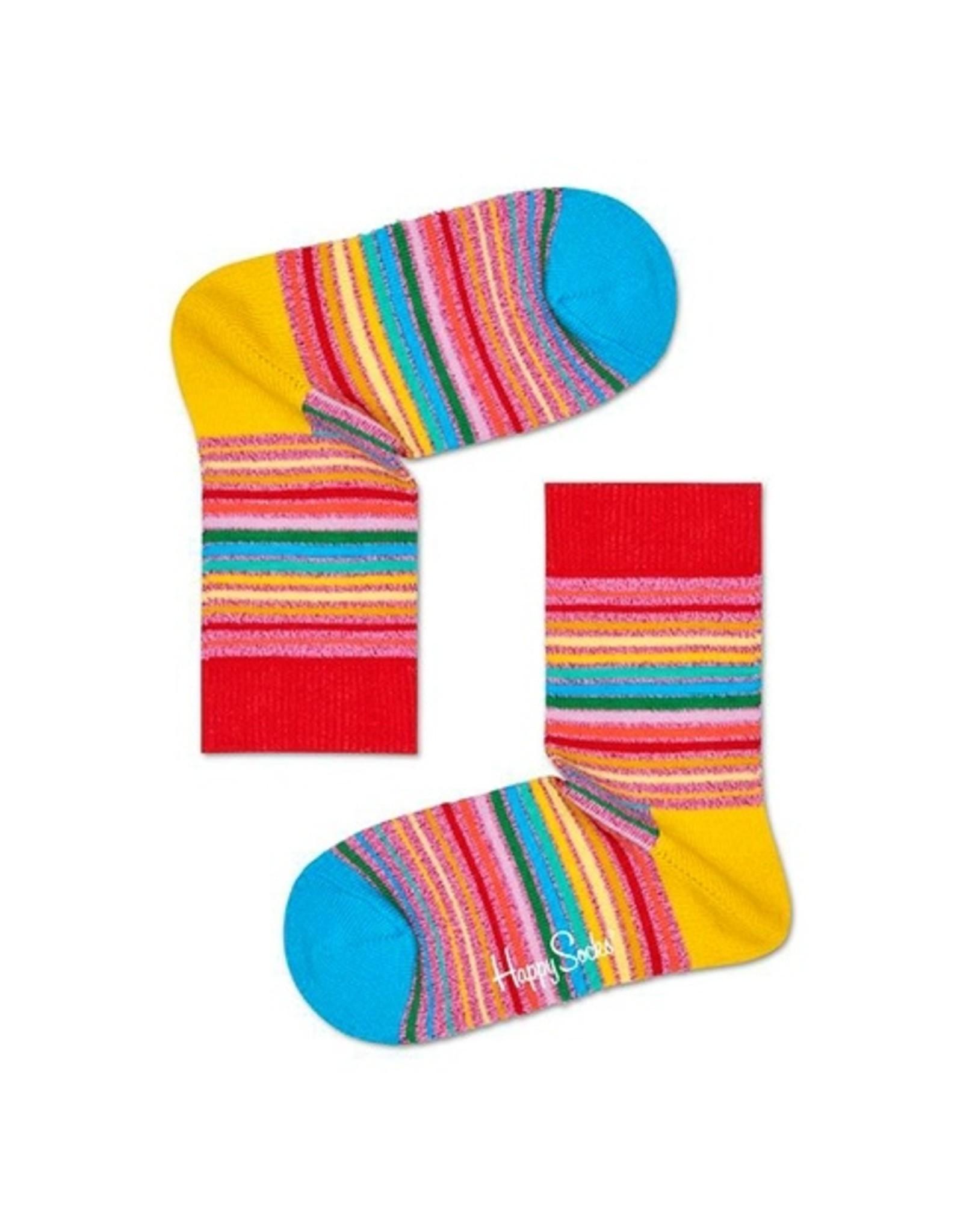 Happy Socks Glitter sokken met streepjes
