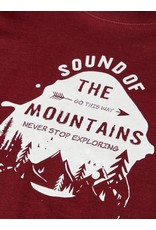 Name It Basis t-shirt bordeaux met grafische print