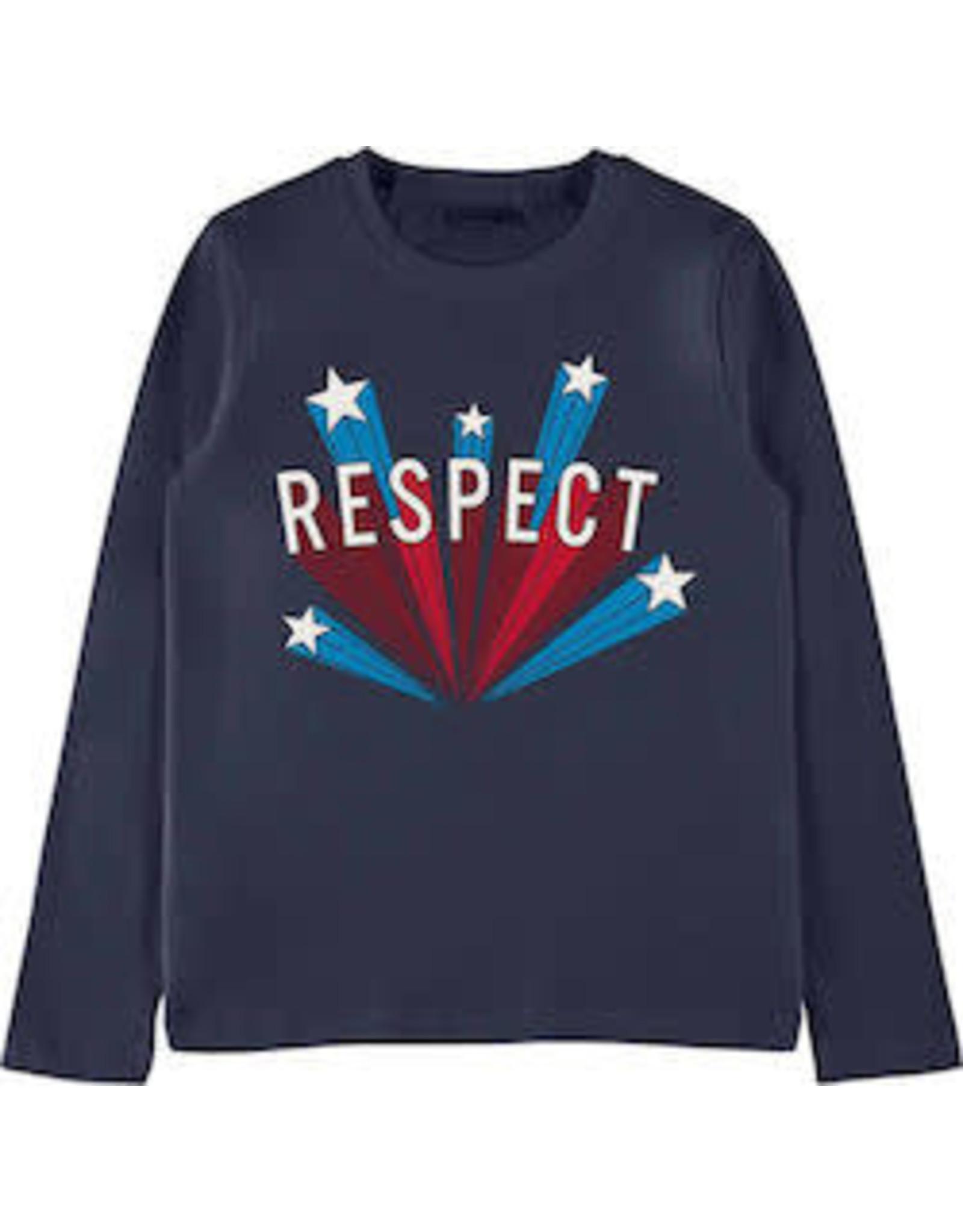 Name It Basis t-shirt donkerblauw met grafische print
