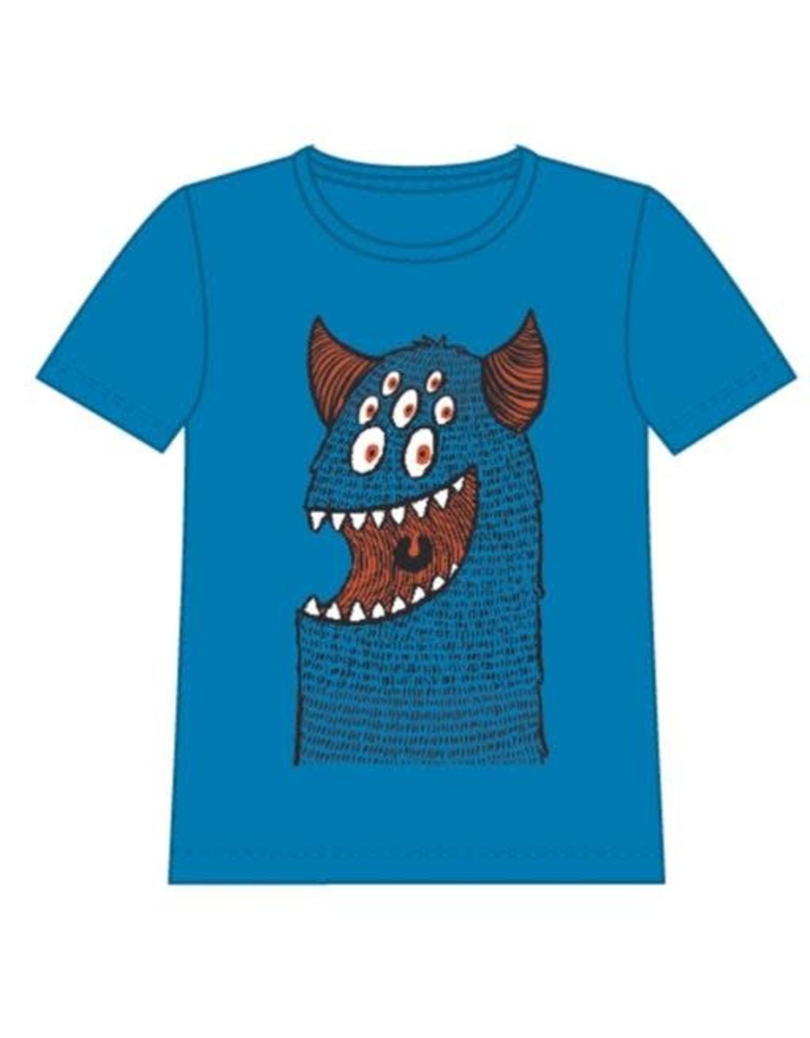 Name It Blauwe monster t-shirt
