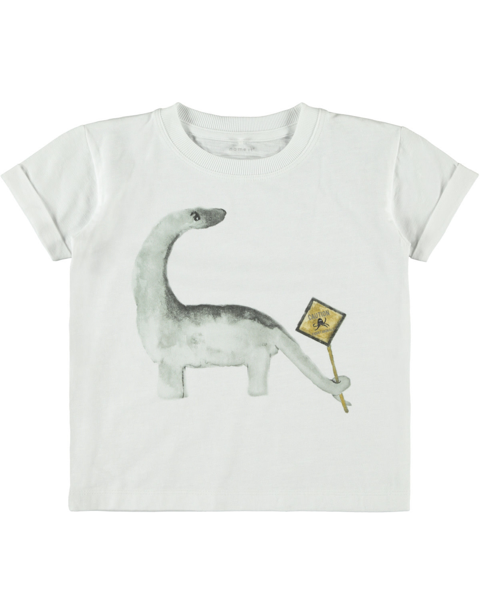 Name It Witte t-shirt met dino